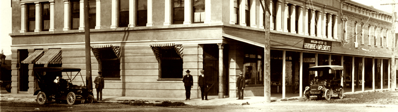 Photo: Bothin Bulding Corner Harvard and Florida circa 1912