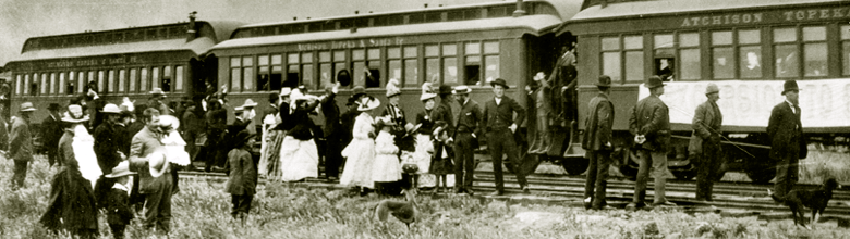 Photo: San Jacinto First Train 1888